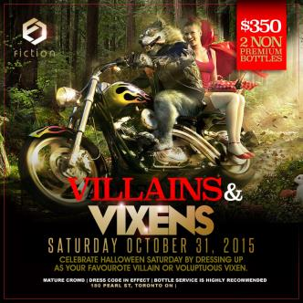 Halloween Saturday Oct 31 @ Fiction // Villains & Vixens