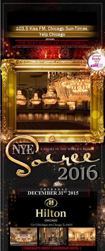 NYE 2016 w/ YELP and KISS FM