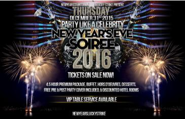 NYE 2016 - Lucky Strike Lounge
