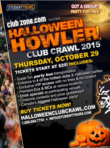 CALGARY HALLOWEEN CLUB CRAWL - OCTOBER 29TH