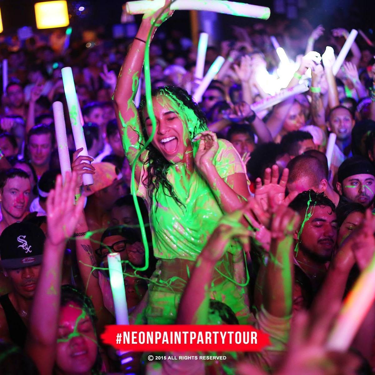 The Neon Paint Party Tour: Halloween Paint Bath 18 ...