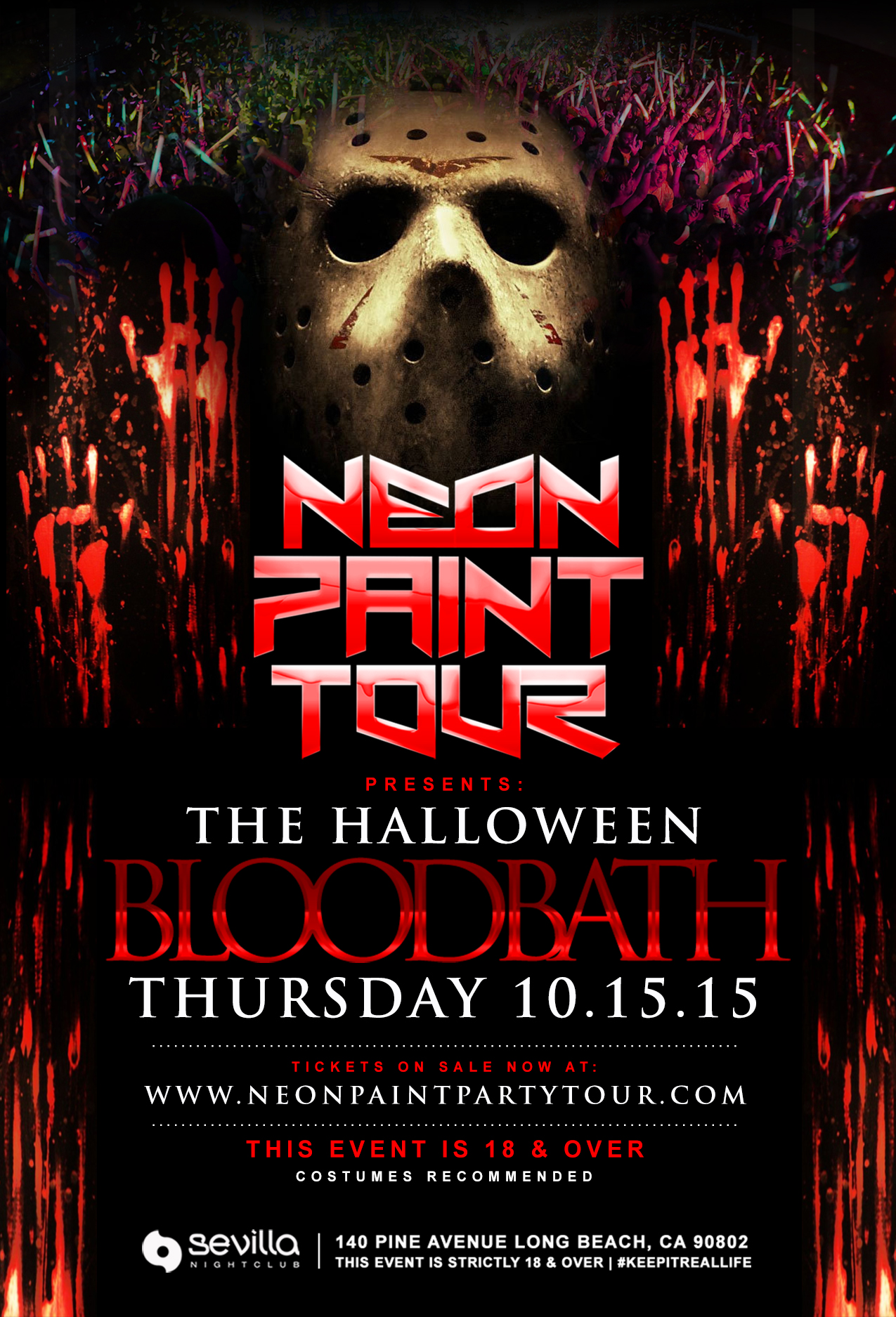 The Neon Paint Party Tour Blood Bath Tickets 10/15/15