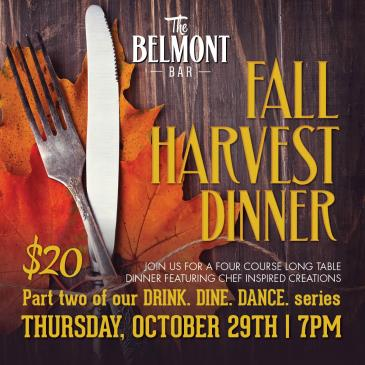 Fall Harvest Dinner at The Belmont