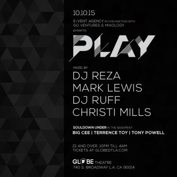 PLAY AT GLOBE THEATRE FT. DJ REZA + MARK LEWIS + RUFF + MORE-img