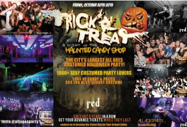 TRICKrTREAT | ALL AGES HALLOWEEN at RED | Fri Oct 30th