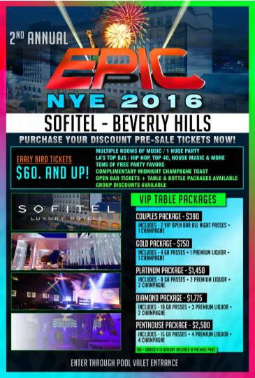 EPIC New Year's Eve 2016 - Sofitel Beverly Hills
