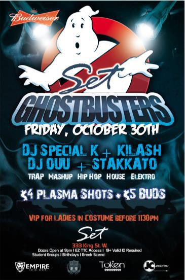 ? GHOSTBUSTERS HALLOWEEN ~ Fri Oct 30th | SETonKing