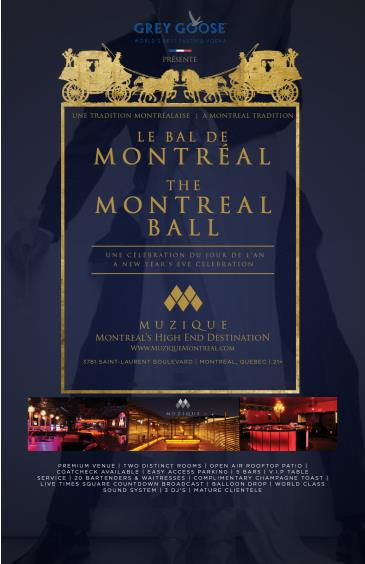 New Years Eve at Muzique - The Montreal Ball 2016