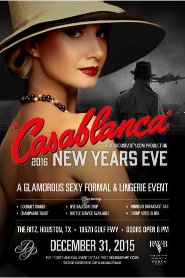 CasaBlanca-New Years Eve Houston 2016