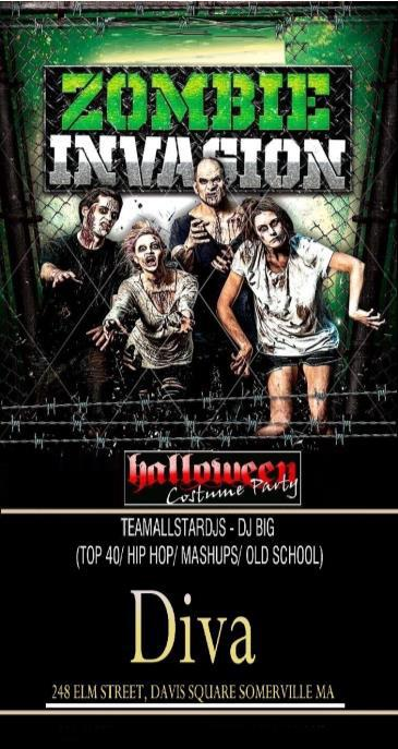 HALLOWEEN ZOMBIE INVASION COSTUME PARTY - 10/30
