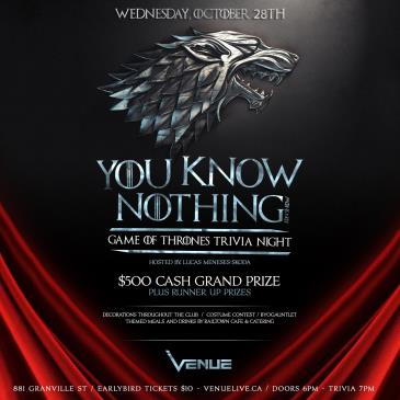 GAME OF THRONES TRIVIA NIGHT :: VENUE