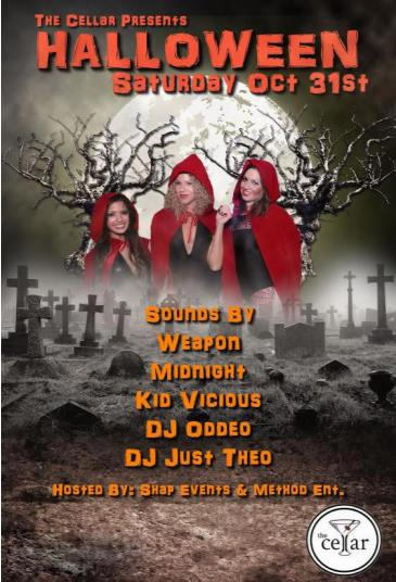 Halloween Saturday - Spend Halloween at The Cellar SF!
