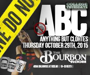 College Thursdays: Anything But Clothes Halloween Party