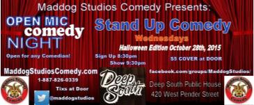 Halloween Edition Open Mic Comedy Night at the Deep South