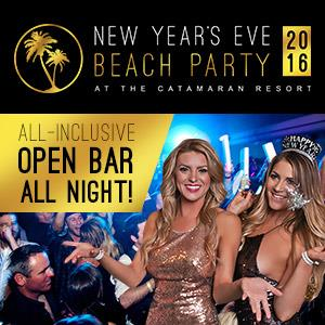All Inclusive NYE Beach Party at the Catamaran Resort