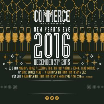 COMMERCE NEW YEAR'S EVE 2016