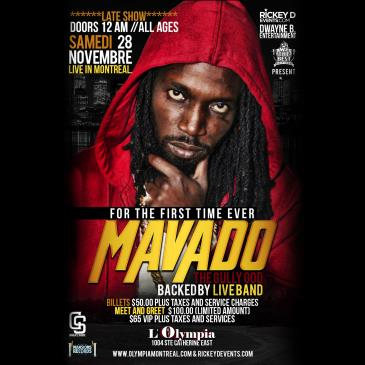MAVADO with Live Band-All ages