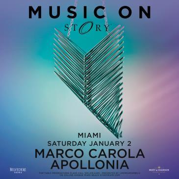 MUSIC ON Marco Carola & Apollonia: Main Image