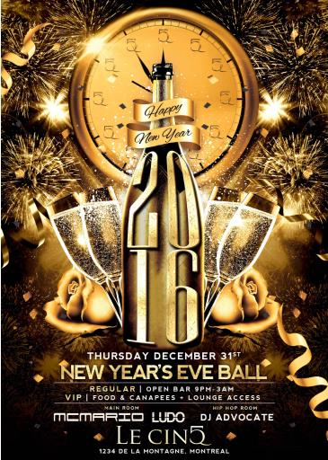 New Year's Eve Ball at Le CinQ