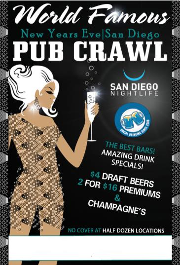 SAN DIEGO NEW YEAR'S EVE PUBCRAWL