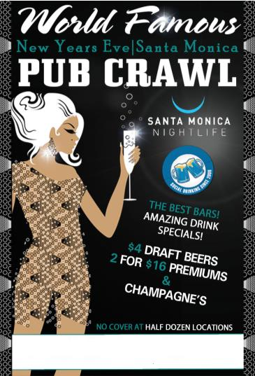 SANTA MONICA NEW YEAR'S EVE PUBCRAWL
