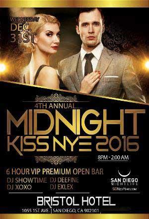 4th Annual San Diego Midnight Kiss New Years 2016