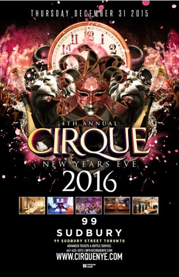 CIRQUE NEW YEARS EVE 2016
