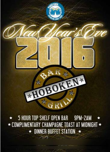 Hoboken Bar & Grill New Year's Eve 2016