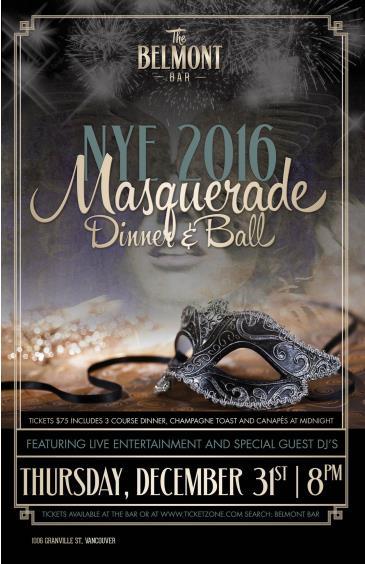 NYE 2016: Masquerade Ball