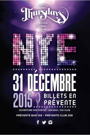 Thursday's MTL New Years Eve