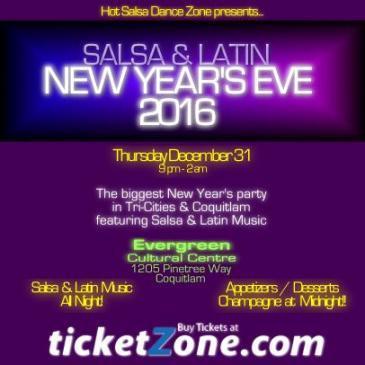Salsa & Latin NYE 2016 at Evergreen, Coquitlam