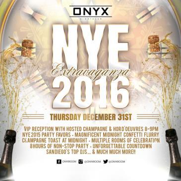 ONYX ROOM NYE 2016 EXTRAVAGANZA