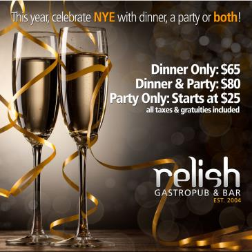 NEW YEAR'S EVE 2015/2016 AT RELISH