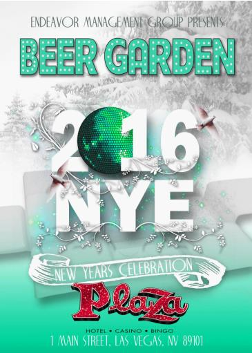 NYE 2016 AT THE BEER GARDEN INSIDE THE PLAZA HOTEL