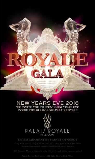 ROYALE GALA NEW YEARS EVE 2016 INSIDE PALAIS ROYALE
