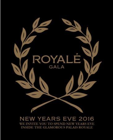 ROYALE GALA NEW YEARS EVE 2016 INSIDE PALAIS ROYALE