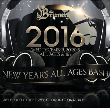 ALL AGES NEW YEAR BASH @ The Brunny // Wed Dec 30