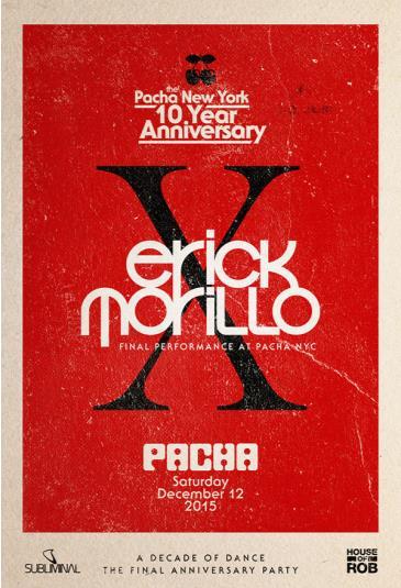 ERICK MORILO | The Pacha NYC 10-Year Anniversary: Main Image