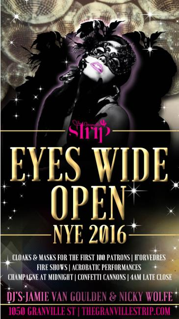EYES WIDE OPEN NYE 2016