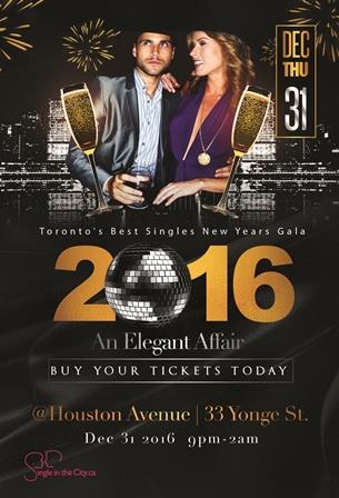 Toronto Singles New Years Eve Gala