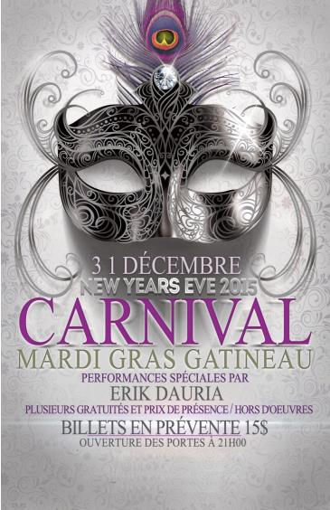 CARNIVAL MARDI GRAS GATINEAU NEW YEARS EVE 2016