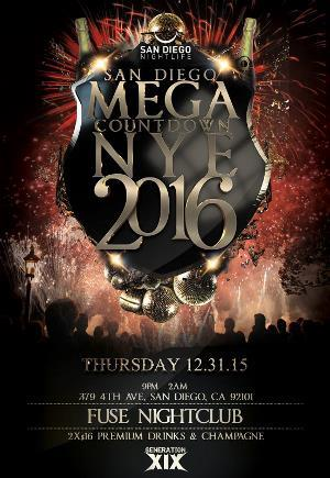 Mega Countdown San Diego New Years 2016