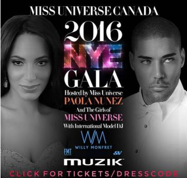 Miss Universe Canada 2016 NYE Gala