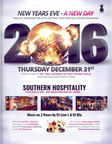 New Years Eve at Southern Hospitality - A New Day