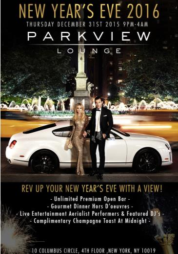 NEW YEAR'S EVE 2016 AT PARKVIEW LOUNGE