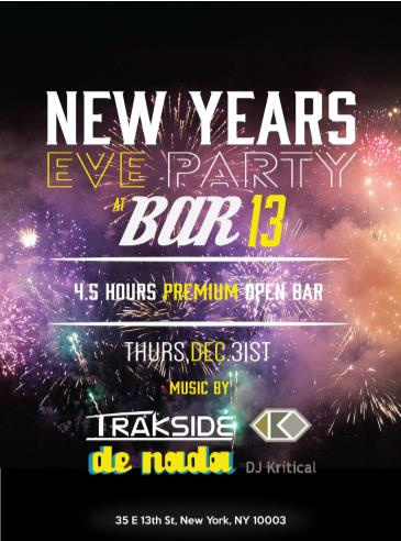 New Year's Eve at The 13