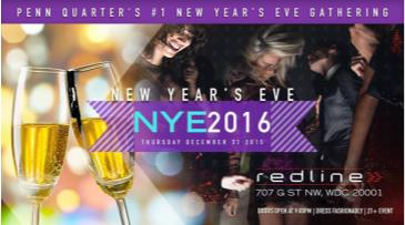 New Years Eve Party 2016 @ REDLINE Lounge DC NYE