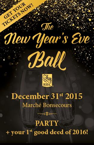 RBC NYE Ball - Party + your 1st Good deed of the year!