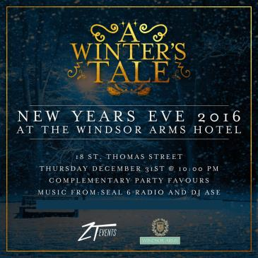 NYE 2016 at The Windsor Arms - 5 Star Hotel!