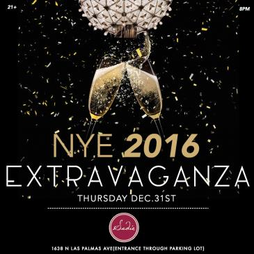 NYE 2016 EXTRAVAGANZA @ SADIE HOLLYWOOD